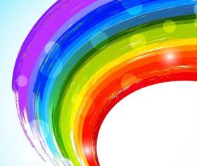 Vector background in rainbow color design 05
