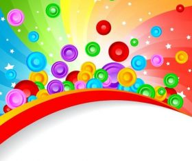 Vector background with circle abstract design 03