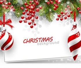Vector christmas balls with baubles material 01