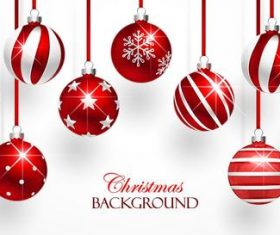 Vector christmas balls with baubles material 02