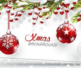 Vector christmas balls with baubles material 03