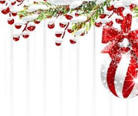 Vector christmas balls with baubles material 05