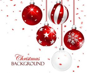 Vector christmas balls with baubles material 06