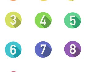 Vector cute candy color numbers