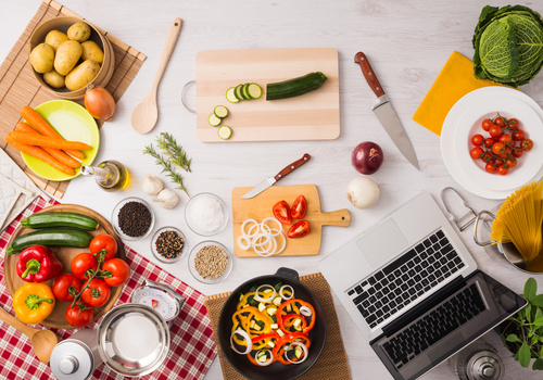 Vegetables on wooden workbench Stock Photo 03