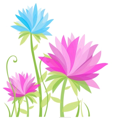 Vibrant Abstract Flowers Illustration vector