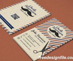 Vintage Barber Shop Business Card PSD Template