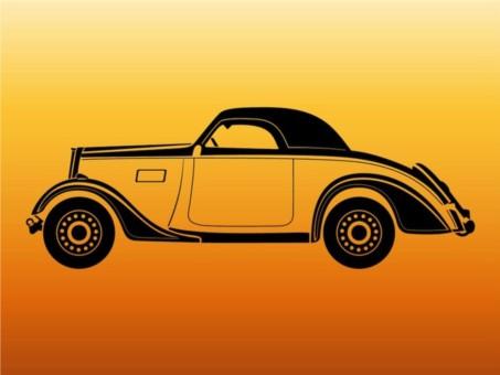 Vintage Car Outlines vector