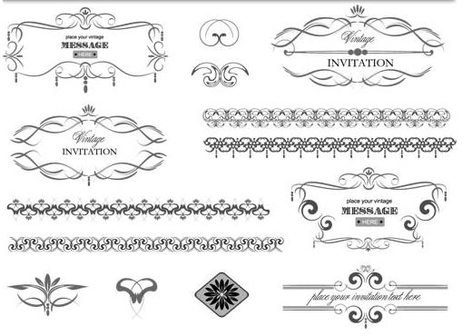 Vintage Design Elements 22 Illustration vector