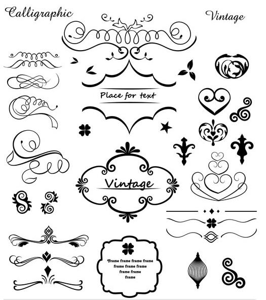 Vintage Design Elements 23 vectors material
