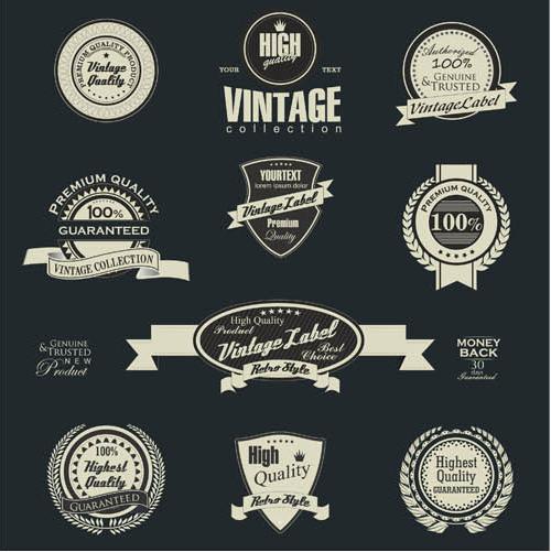 Vintage Labels Set vector graphics