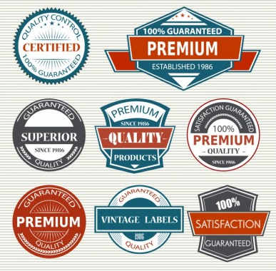 Vintage Labels free design vector
