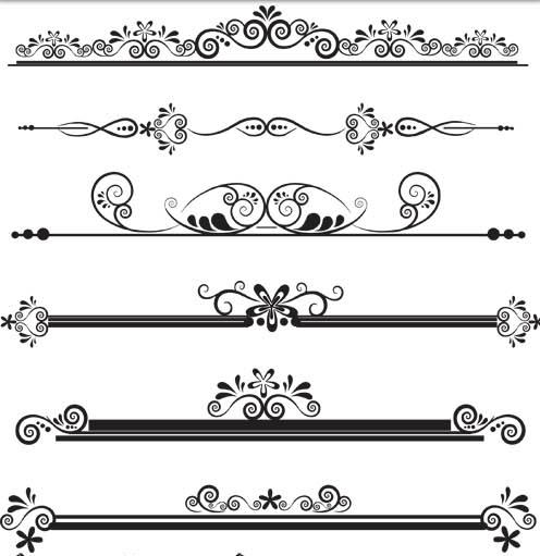 Vintage Ornamental Dividers 12 vectors graphics