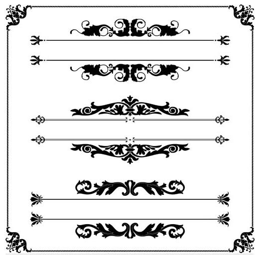 Vintage Ornamental Dividers 13 vector