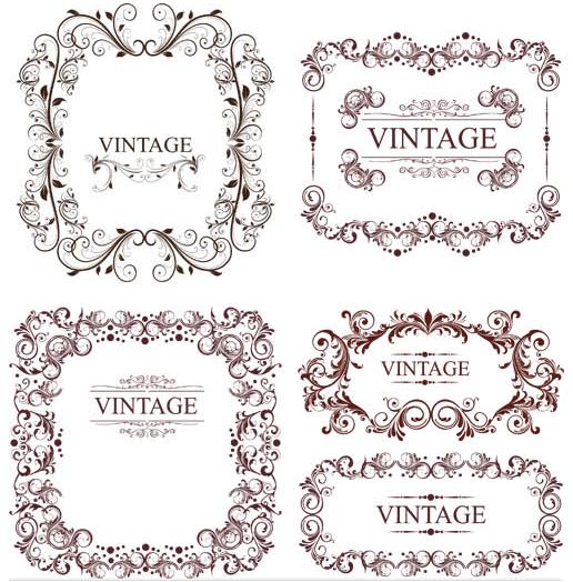Vintage Ornamental Frames 8 vector