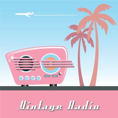 Vintage Radio vectors graphic