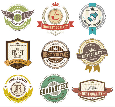 Vintage Sale Labels vectors graphics