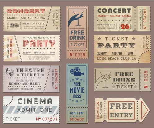 Vintage Tickets free Illustration vector