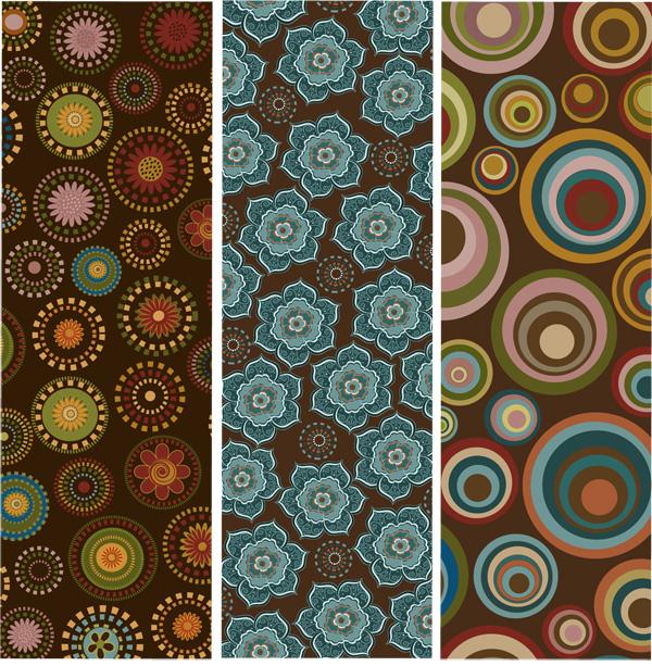 Vintage pattern benner 1 vector