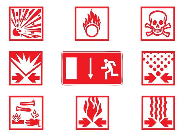Warning Signs Graphics art vector graphics