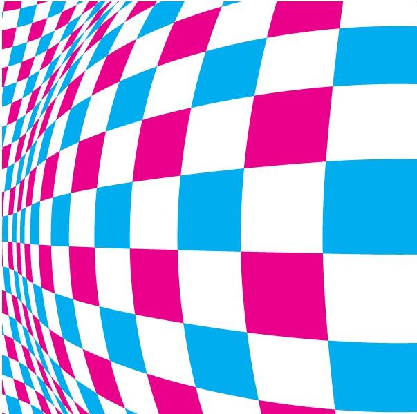 Warped Checkered Pattern Background vector