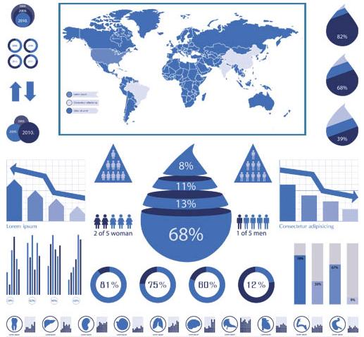 Water Infographics Elements vector