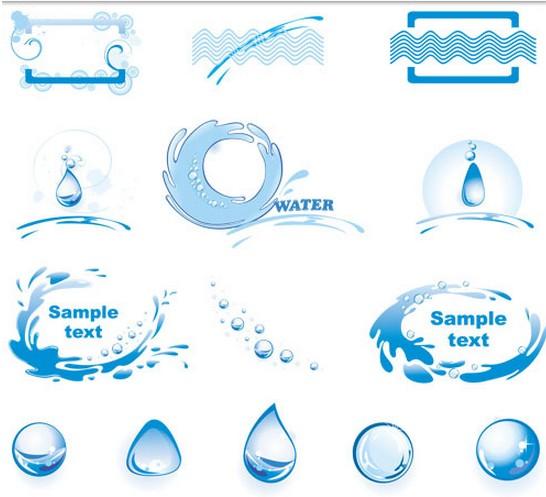 Water Style Logo shiny vector