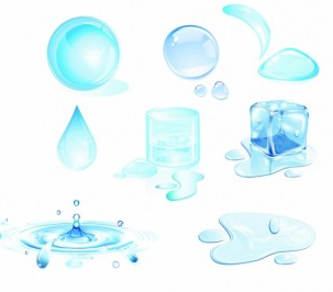 Water drops design elements vector