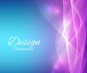 Wavy abstract with colored backgrounds vector