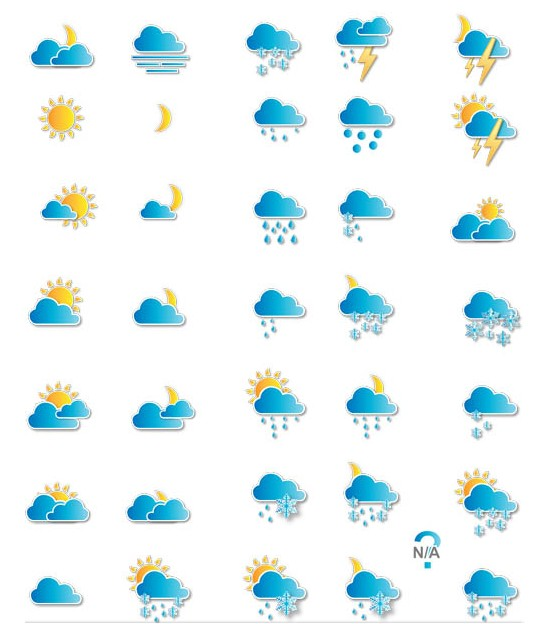 Weather Creative Icons art vector material