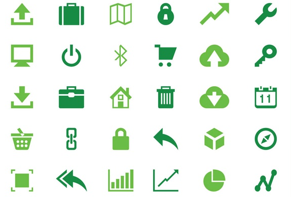 Web And Technology Icons Art vectors