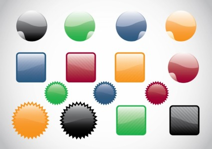 Web Buttons vector material
