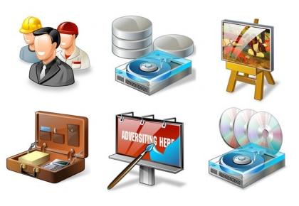 Web Design Icons shiny vector