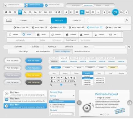 Web Design Navigation Menu vector