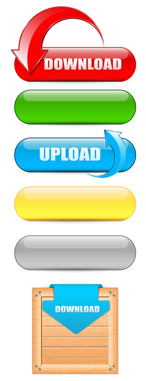 Web Download Buttons vector