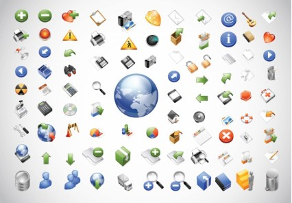 Web Icons Pack shiny vector