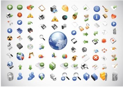 Web Icons free vector set