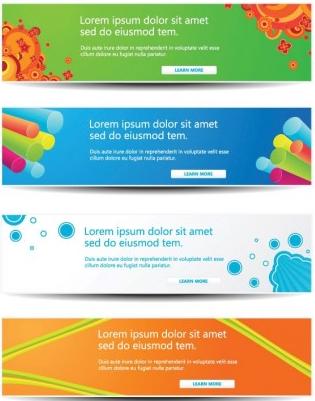 Web decorations 2 vector graphic