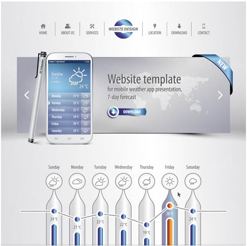 Website Templates 2 vectors graphic