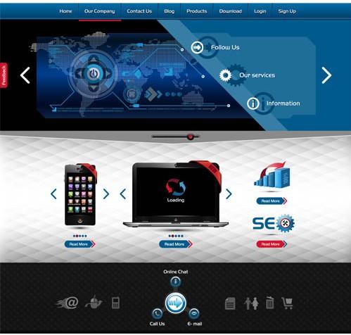 Website Templates 3 vector