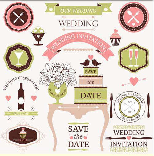 Wedding Vintage Elements vector