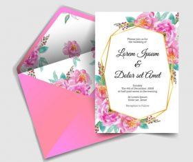 Wedding invitation card elegant design vector 06