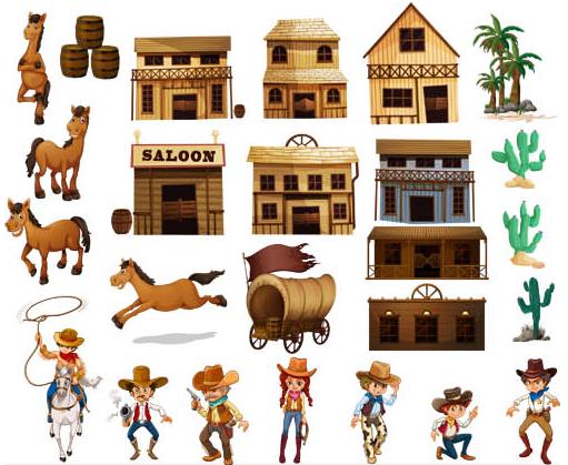 Western free design vectors