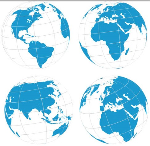 White Globes free vector