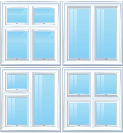 White Windows Vector