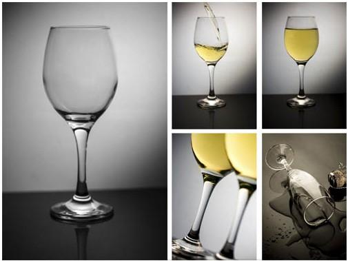 White Wine Collage set vector