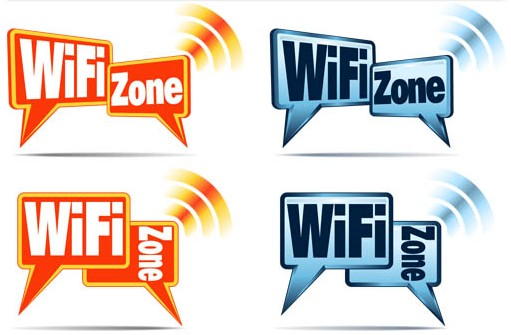 Wi Fi Zone Labels vector