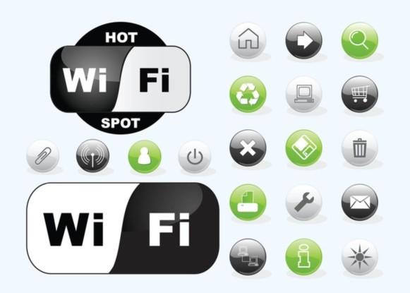 Wifi Icons vector design
