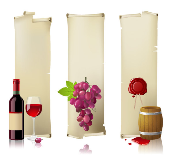 Wine Bottle and Wineglass 4 vector graphic