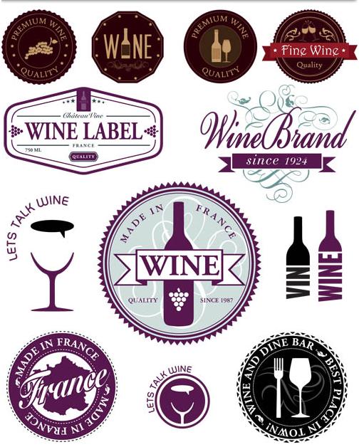 Wine Vintage Labels vectors